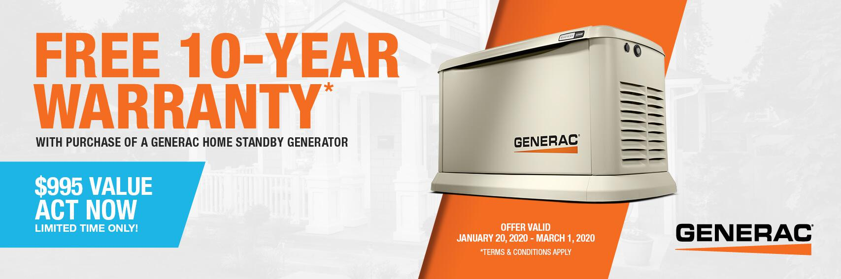 Homestandby Generator Deal | Warranty Offer | Generac Dealer | BLAIRSTOWN, NJ